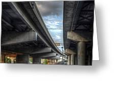 Under The Overpass II Greeting Card by Break The Silhouette