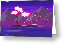 Under The Phoenix Tree Greeting Card