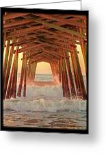 Under The Pier At Dawn Greeting Card