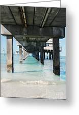 Under The Pier Greeting Card by Lynn Jackson
