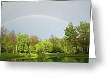 Under The Rainbow Greeting Card