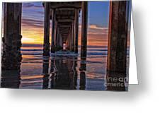 Under The Scripps Pier Greeting Card