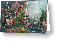 Under The Sea Colors Greeting Card