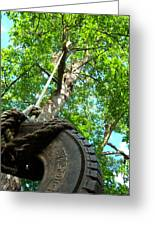 Under The Tire Swing Greeting Card