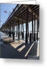 Under The Ventura Pier In Southern California Greeting Card