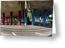 Under The Viaduct A Panoramic Urban View Greeting Card