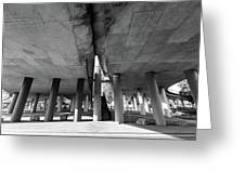 Under The Viaduct A Urban View Greeting Card