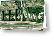 Under The Viaduct C Panoramic Urban View Greeting Card
