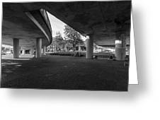 Under The Viaduct D Urban View Greeting Card