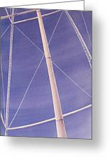 Under The Water Tower Greeting Card