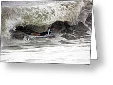 Under The Wave Greeting Card