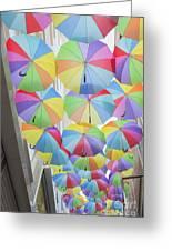 Under Umbrellas Greeting Card