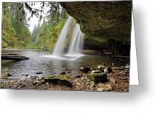 Under Upper Butte Creek Falls In Autumn Greeting Card