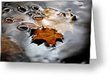 Under Water Fall Greeting Card