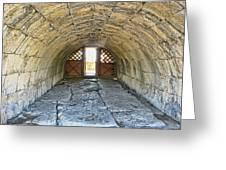 Underground Passage Greeting Card