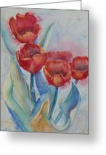 Undersea Tulips Greeting Card