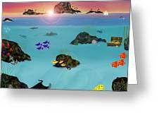 Undersea View Greeting Card by Tanya Van Gorder
