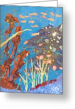 Underwater Abstract No. 2 Greeting Card by Helene Henderson