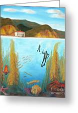 Underwater Catalina Greeting Card