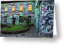 Underwater Graffiti On Studio At Metelkova City Autonomous Cultu Greeting Card