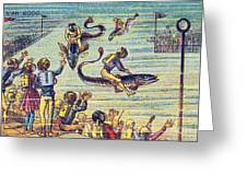 Underwater Race, 1900s French Postcard Greeting Card