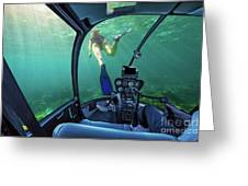 Underwater Ship In Coral Reef Greeting Card