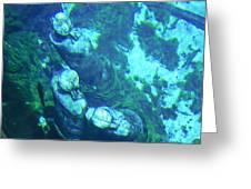 Underwater Statues Greeting Card