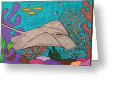Underwater Stingray Greeting Card