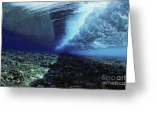 Underwater Wave - Yap Greeting Card