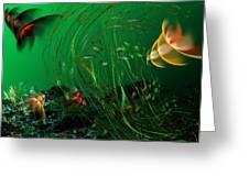 Underwater Wonderland  Diving The Reef Series. Greeting Card