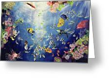 Underwater World II Greeting Card by Odile Kidd