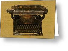 Underwood Typewriter On Text Greeting Card