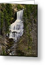 Undine Falls On Lava Creek Greeting Card