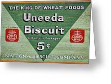 Uneeda Biscuit Vintage Sign Greeting Card