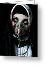 Unholy Greeting Card by Aston Futcher