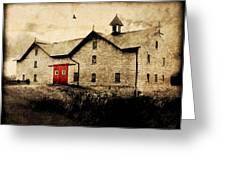 Uni Barn Greeting Card by Julie Hamilton