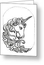 Unicorn Cameo Greeting Card