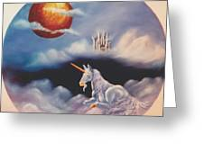 Unicorn In The Clouds Greeting Card