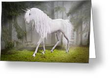 Unicorn In The Forest Greeting Card