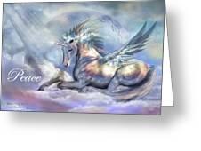 Unicorn Of Peace Card Greeting Card