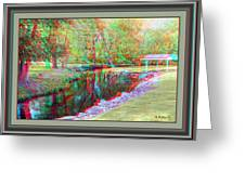 Unicorn Stream - Use Red-cyan 3d Glasses Greeting Card