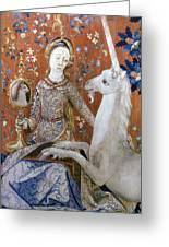 Unicorn Tapestry, 15th C Greeting Card