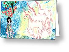 Unicorns Come Home Greeting Card