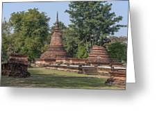Unidentified Wat Wihan And Chedi Dthst0074 Greeting Card