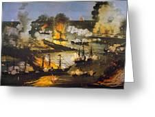 Union Bombardment, 1862 Greeting Card