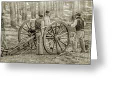 Union Cannon Civil War Sepia Version Greeting Card