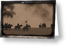 Union Cavalry Charge Greeting Card