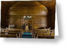 Union Christian Church Sanctuary Greeting Card