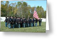 Union Infantry March Greeting Card