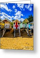 Union Jack Beach Hut 2 Greeting Card